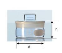 Weighing Bottle. Botol Timbang. Volume 15mL. Flat shape. Borosilicate