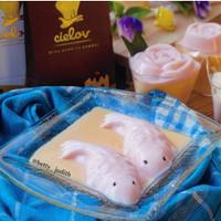 Bubuk silky pudding cielov Puding sutra Aneka rasa buah