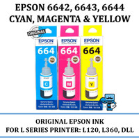 Tinta Epson Original 664 C, M, Y - For L110, L120,L210 (Dealer Resmi)