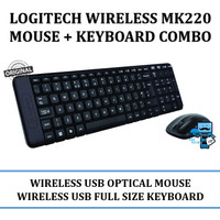 Logitech MK220 WIRELESS COMBO Mouse and keyboard