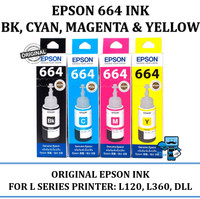 Epson 664 BK, C, M, Y Original Ink - For L120,L210 (Kami Dealer Resmi)