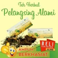 Obat pelangsing tubuh alami   teh daun jati cina   teh herbalxsing