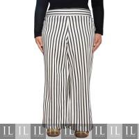 Celana Kulot Putih Ilmi - Garis Zebra Hitam