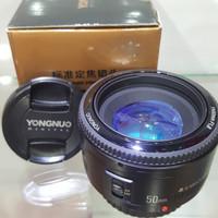 Lensa yongnuo fix 50 mm f 1.8 for canon