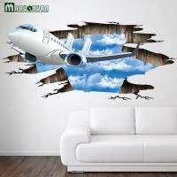 Stiker dinding Lantai Pesawat Langit IMPOR Wall Sticker 3D Waterproof