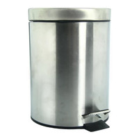 SALE KRISBOW Tempat sampah pedal mirip IKEA STRAPATS, silver, 5 L