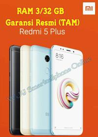 Xiaomi Redmi 5 Plus TAM Garansi Resmi Ram 3/32 Gb Snapdragon 625