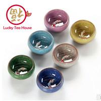 Set cangkir teh / tea cup unik keramik ikan koi