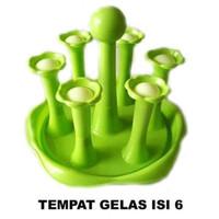 Tatakan / Tempat gelas golden Sunkist isi 6pcs