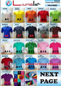 Kaos polo / kaos kerah / baju polo / polo shirt harga promo
