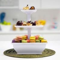 Snack Server Rak Aneka Kue Etalase 3 TINGKAT Buah Coklat cup cake