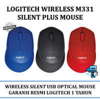 Mouse Wireless Logitech M331 - Silent Plus Mouse (No Clickling Sound)