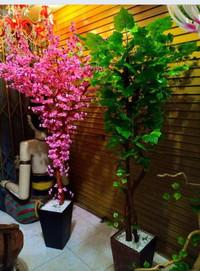 Hiasan bunga sakura dan daun mapple