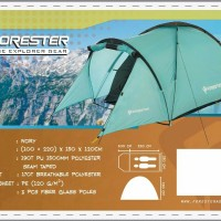 Tenda camping forester TDF 002 lvory 2person not eiger consina rei