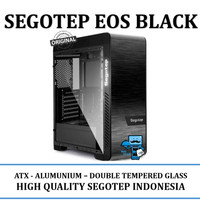 Casing PC CPU SEGOTEP EOS BLACK - DOUBLE TEMPERED GLASS - Alumunium