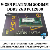 V-GEN DDR3 2GB PC 12800 1600 Mhz SODIMM Notebook Laptop RAM Memory