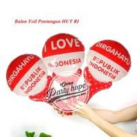 balon pentung merah putih / Balon foil HUT RI balon 17 agustus / balon