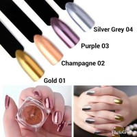 2g Magic Mirror Chrome Effect Dust Shimmer Nail Art Powder 12 Colors