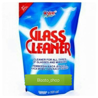 Yuri glass cleaner pouch fresh blue 410 ml khusus gojek grab