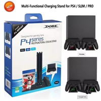 Ps4 Multifungctional Cooling Stand LED For Ps4 slim &Pro New Dobe