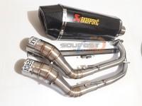 knalpot racing akrapovic evo fullsystem aerox155 nmax vario150