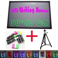Ruibao LED Writing Board 1 Set 40X30cm Papan Tulis LED Papan Iklan