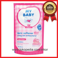 MY BABY FABRIC SOFTENER PLUS SWEET FLORAL POUCH 700ML