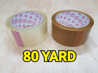 Lakban Plakban SIKA Tape Bening Coklat 48 x 80 yard