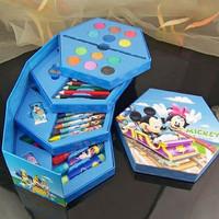 Crayon Set 46 karakter lucu alat melukis