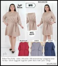 Bigsize Dress Sabrina Dress Jumbo Oversize Ukuran Besar FL755