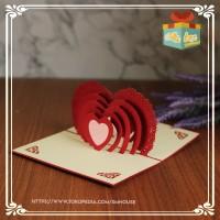 Kartu ucapan ulang tahun|anniversary|terima kasih|Handmade (love2)
