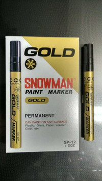 SPIDOL SNOWMAN WARNA GOLD (EMAS) PERMANENT