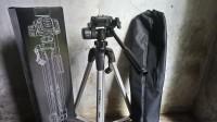Tripod Kamera DSLR Excell Promoss Silver Hitam