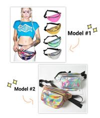 Waist bag hologram / tas pinggang / waistbag bum bag