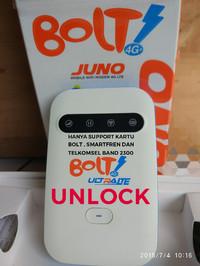 mifi modem bolt juno unlock tanpa kartu perdana bukan aquila max