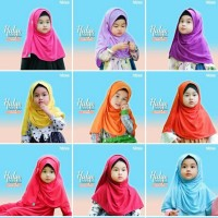 Pashmina Pasmina instan Hulya by Hilzea Jilbab Anak Kaos size M-L