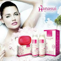 hanasui body care 3in1 /hn body lotion/ paket hand & body lotion 3in1