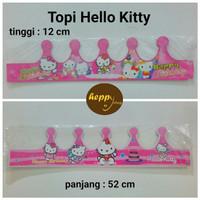 Topi Ulang Tahun Hello Kitty, Topi Mahkota, Topi Ultah