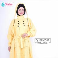 Jas Hujan Muslimah Sheba Queenzha Cranberryr Model Gamis