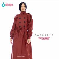 Jas Hujan Muslimah Sheba Barkhiya Dark Magenta Model Gamis