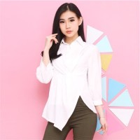 CHAMELE 1925 - ZAARA STYLE GOOD QUALITY KEMEJA WANITA OFFICE BLOUSE