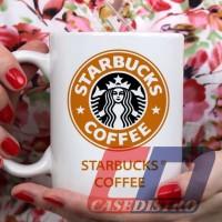 Gelas Mug Desain New starbucks coffee logo orange