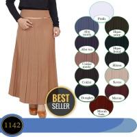 rok panjang muslim rok kerja plisket long skirt