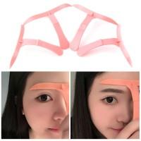 4Pcs Penggaris Cetakan Alis Eyebrow Stencil Microblading Ruler