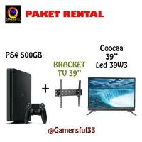 PS4 Slim 500GB 2 Stik Free Bracket & Coocaa Led Tv 39 Inch 39w3