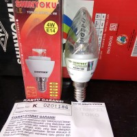 Shinyoku Lampu LED Torch Crystal 4Watt 4 W E14 Kuning