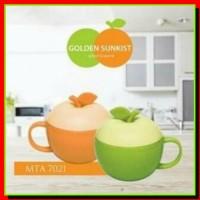 [BARU] R-18000103 Gelas Cangkir Mug Tutup Apel Golden Sunkist MTA7021