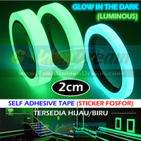 Glow In The Dark Tape 2cm Selotip Fosfor Luminous Sticker Lakban Night