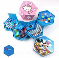 Crayon Set Karakter 4 in 1 isi 45/Alat Perlengkapan Menggambar Anak