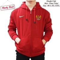 Jaket Hoodie Halfzipper Sweater Nike Indo Indonesia Timnas Garuda